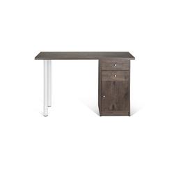 EASY WORK III | 120x50 - Schreibtisch Walnuss / Weiß