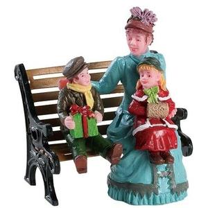 Lemax Sitting Together (426), Weihnachtsdorf, Weihnachtsfiguren, Modellbau