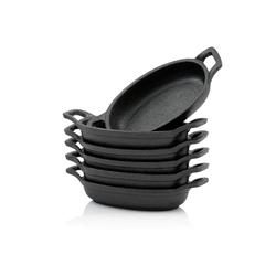 BBQ-Toro Grillpfanne BBQ-Toro Servierpfännchen Set (6-er Pack), Gusseisen Grillpfannen