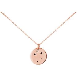 Gemshine Kette mit Anhänger Horoskop Sternzeichen Libra Waage, Made in Spain rosa