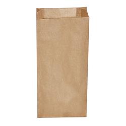 Papierfaltenbeutel Papiertüten braun 14+7 x 32 cm für ca. 2 kg Inhalt, 500 Stk.