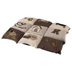 Trixie Decke Patchwork braun/beige, Maße: 105 x 80 cm