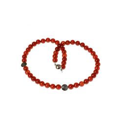Bella Carina Perlenkette Kette Karneol mit Silber Spiralen, mit 925 Silber Perlen
