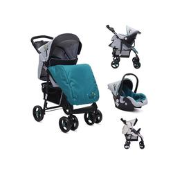 Moni Kombi-Kinderwagen Kombikinderwagen Lea 2 in 1, mit Babyschale, Vorderräder 360° schwenkbar