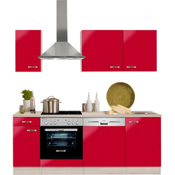 OPTIFIT Küchenzeile Faro, ohne E-Geräte, Breite 210 cm rot