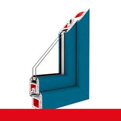 Kunststofffenster Dreh (ohne Kipp) Fenster Brillantblau