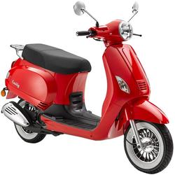 Luxxon Motorroller Emily, 49 ccm, 45 km/h, Euro 4 rot