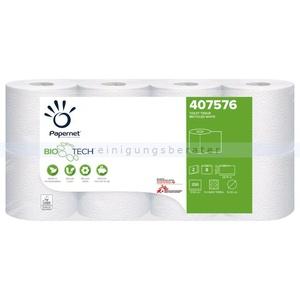 BIOTECH 2-lagig Toilettenpapier für Camping Toiletten 8 Rollen/Paket x 250 Blatt, 2-lagig, zersetzend, weiß