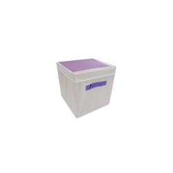 HTI-Line Aufbewahrungsbox Aufbewahrungsbox mit Deckel Paloma (1 Stück), Stoffbox lila