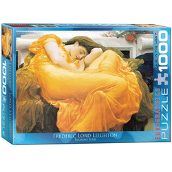 empireposter Puzzle Frederic Lord Leighton - Flaming June - 1000 Teile Puzzle im Format 68x48 cm, 1000 Puzzleteile