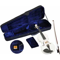 Steinbach Violine Steinbach 4/4 Geige im SET weiß handgearbeitet 4/4