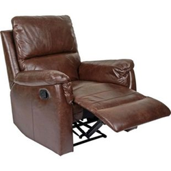 Fernsehsessel MCW-E67, Relaxsessel Liege Sessel ~ Stoff/Textil Wildlederimitat braun