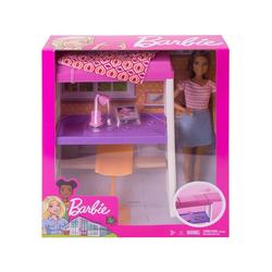 Mattel® Puppen Accessoires-Set Mattel FXG52 - Barbie - Deluxe-Set - Möbel, Hochbett mit Schreibtisch und Puppe