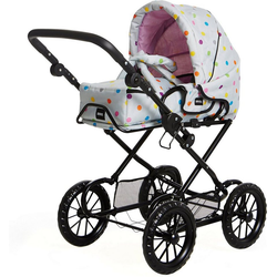 BRIO® Puppenwagen Puppenwagen Combi, grau mit Punkten