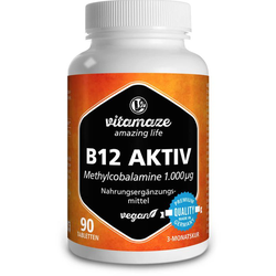 B12 AKTIV 1.000 µg vegan Tabletten 90 St.