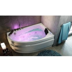 Emotion Whirlpool-Badewanne Stardust rechts Premium Whirlpool Set (L/B/H) 150/95/58,5 cm