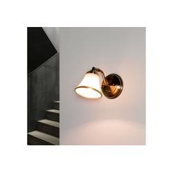 Licht-Erlebnisse Wandleuchte GRANDO Badleuchte Wand Jugendstil schwenkbar mit Schalter Lampe