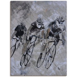 Artland Wandbild Fahrrad fahren im Regen, Fahrräder (1 Stück) 30 cm x 40 cm