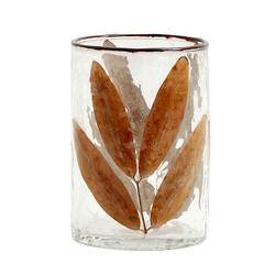 Nordal Leaves Vase / Kerzenglas klein