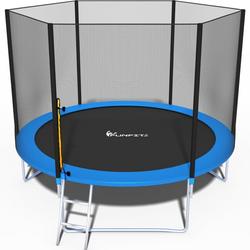 Trampolin - blau - 312 cm - mit Netz und Leiter - bis 120 kg