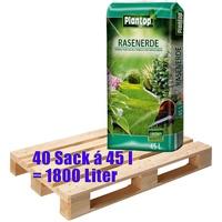 Plantop Rasenerde Plantop Sack je 45 Liter = Liter Qualitäts-Rasensubstrat aus Bayern