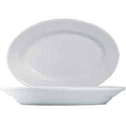 10 x Tivoli Uni Platte oval 31cm * - weiß - Saturnia