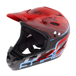 FORCE Fahrradhelm Downhill Tiger Helm rot S - M