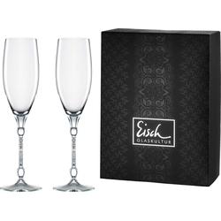 Eisch Champagnerglas 10 Carat (2-tlg), handgefertigtes, bleifreies Kristallglas, 280 ml