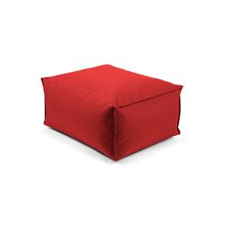 mokebo Pouf Der Ruhepouf, Outdoor Sitzkissen, Sitzhocker & Sitzpouf, in rund o. eckig & vielen Farben rot 65 cm x 35 cm x 50 cm