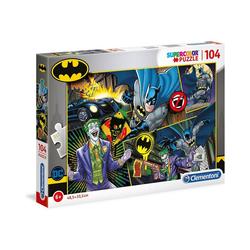 Clementoni® Puzzle Supercolor Puzzle 104 Teile - Batman, Puzzleteile