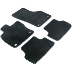 WALSER Passform-Fußmatten Premium (4 Stück), für Renault Kangoo Rapid, Kangoo Express, Kangoo ZE