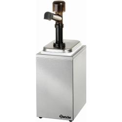 Bartscher Pumpstation, Behälter mit Pumpaufsatz für Ketchup, Mayonnaise, Senf, 1 x 3,3 Liter, 1 Pumpe