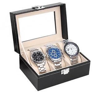MyBeautyworld24 Uhrenbox Uhrenkasten Uhrenbox für 3 Uhren Aufbewahrung für Uhren Uhrenschatulle