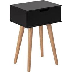 Mike Nachttisch schwarz Holz Nachtschrank Nachtkonsole Schlafzimmer Möbel