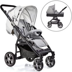 Gesslein Kombi-Kinderwagen S4 Air+, Black/Grau & Babywanne C3 Grau