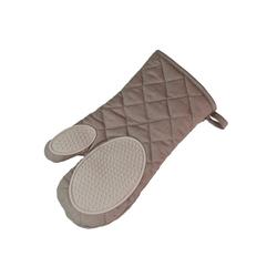 One Home Topfhandschuhe Backhandschuh Basic, (1-tlg), hitzebeständig bis 250°C mit Silikon braun