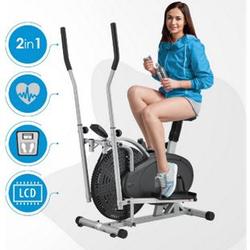 ArtSport 2in1 Crosstrainer & Heimtrainer – Ergometer mit Computer, LCD Display, Sitz und Schwungrad