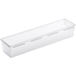 Rotho BASIC Schubladen-Ordnungssystem, transparent, Schubladen-Ordnungssystem aus Kunststoff , Maße: 300 x 80 x 50 mm