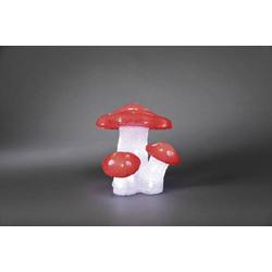 Konstsmide 6155-203 Acryl-Figur Fliegenpilz 3er Set LED Rot, Weiß