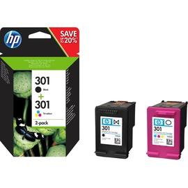 HP 301 schwarz + CMY