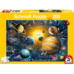 Schmidt Spiele Puzzle Unser Sonnensystem, 200 Teile 56308