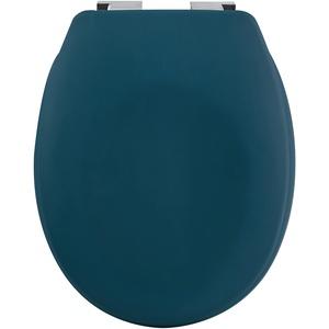 spirella Premium Toilettendeckel oval Klodeckel mit matten Finish und Softclose Absenkautomatik. Antibakterielle Klobrille aus Duroplast und rostfreiem Edelstahl - Petrol
