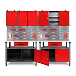 Ondis24 Werkbank-Set grau 240,0 x 60,0 cm