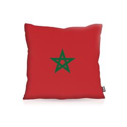 Kissenbezug, VOID, Marokko Morocco Flagge Fahne Fan-Outdoor WM Sport 50 cm x 50 cm