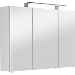 OPTIFIT Spiegelschrank Mino Breite 100 cm weiß