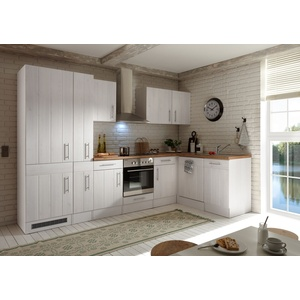 Winkelküche Landhaus Küchenzeile Einbauküche L-Form Küche 310 x 172 cm respekta