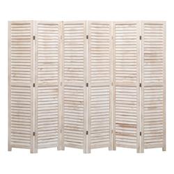 vidaXL Raumteiler vidaXL 6-tlg. Raumteiler 210×165 cm Holz