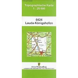 Topographische Karte Baden-Württemberg Lauda-Königshofen - Buch