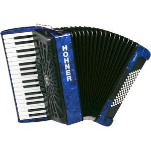 Hohner Bravo III 72 silent key blau Akkordeon