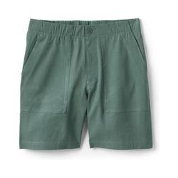 Shorts im Leinenmix mit Stretch, Damen, Größe: L Normal, Grün, by Lands' End, Eukalyptus - L - Eukalyptus